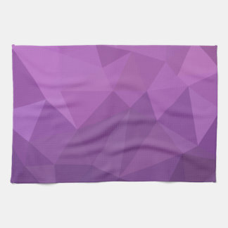 Plum Purple Abstract Low Polygon Background Kitchen Towel