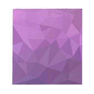 Plum Purple Abstract Low Polygon Background Notepad