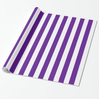 Plum Purple and White Bold Stripes