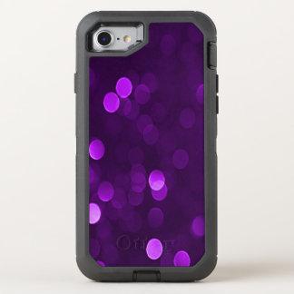 Plum Purple Bokeh Blurry Sparkly Lights OtterBox Defender iPhone 7 Case