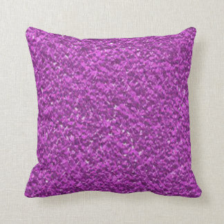 Plum Purple Faux Glitter Texture Throw Pillow