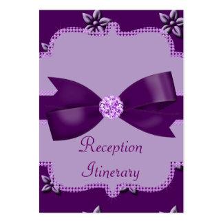 Plum Purple Island Flowers & Rhinestones Wedding Large Business Card