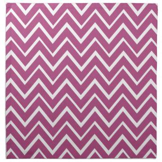 Plum purple whimsical zigzag chevron pattern napkin