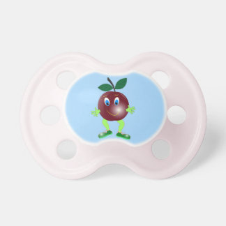plum red cartoon beautiful illustration pacifier