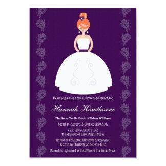 Plum Redhead Bridal Shower Invitations