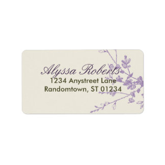 Plum Sage Address Label