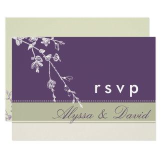 Plum Sage RSVP Card