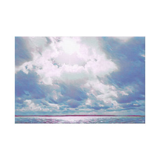 Plum Seascape Canvas Print