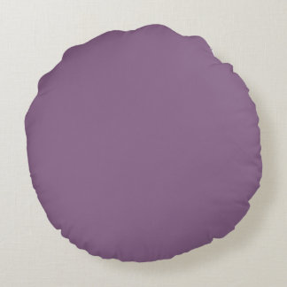 Plum Solid Color Round Pillow