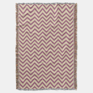 Plum Spice Moods Chevrons Throw Blanket