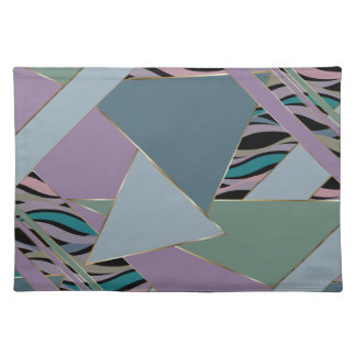 Plum Steel Moss Geometric WhimsicalArtwork™ Placemat