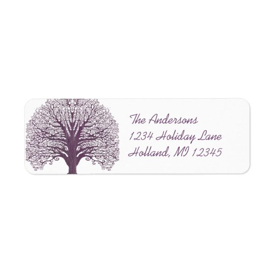 Plum Swirl Tree Return Address