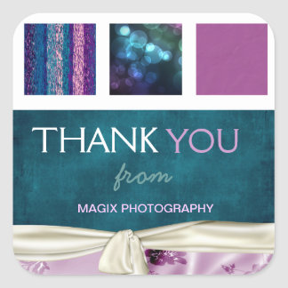 Plum & Teal Boxes Client Thank You Sticker