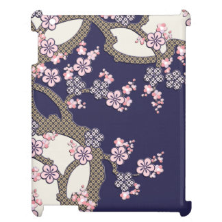 Plum tree flowers traditional japanese textile case for the iPad