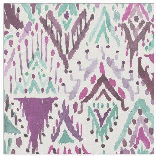 Plum Triumphant Boho Chic Tribal Ikat Fabric