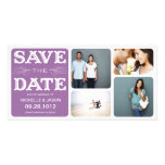 PLUM VINTAGE COLLAGE | SAVE THE DATE ANNOUNCEMENT PHOTO GREETING CARD