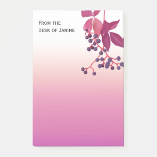 Plum Wash With Hanging Berries Post-it Notes