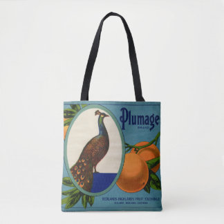 Plumage Brand Orange Crate Label Tote Bag
