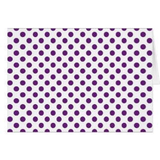 Plumb Purple polka dot Card