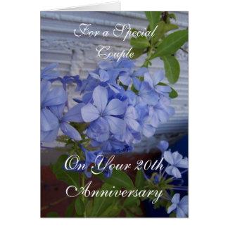 Plumbago 20th Wedding Anniversary Card