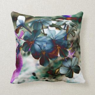 Plumbago Dusty Blue Flowers Throw Pillow