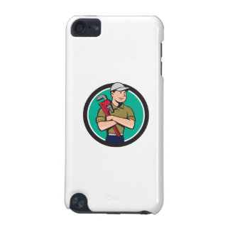 Plumber Arms Crossed Circle Cartoon iPod Touch 5G Case