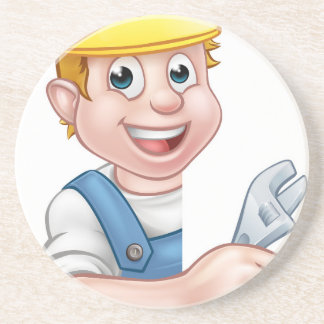 Plumber Cartoon Character Coaster