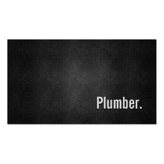 Plumber Cool Black Metal Simplicity Business Card