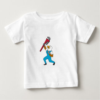 Plumber Eagle Standing Pipe Wrench Cartoon Baby T-Shirt