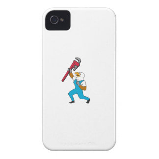 Plumber Eagle Standing Pipe Wrench Cartoon iPhone 4 Cases
