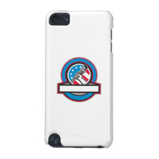 Plumber Hand Pipe Wrench USA Flag Circle iPod Touch (5th Generation) Cover