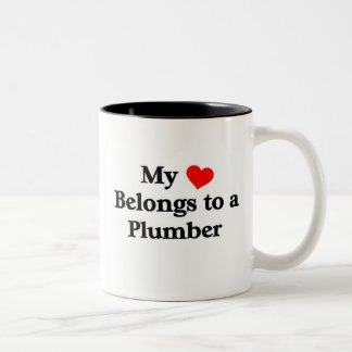 Plumber has my heart Two-Tone coffee mug