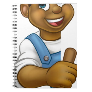 Plumber Holding Plunger Tool Notebook