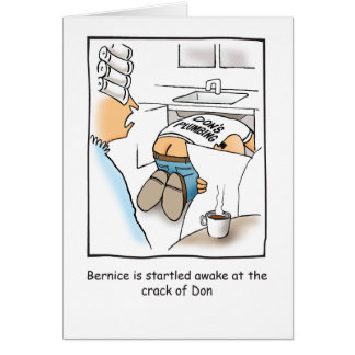 Plumber Humorous Birthday Card