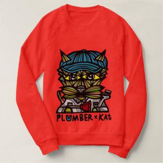 """Plumber Kat"" Men's Raglan Sweatshirt"