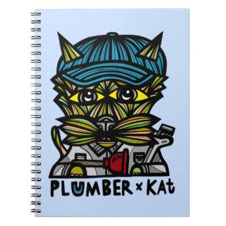 """Plumber Kat"" Spiral Notebook"