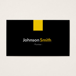 Plumber - Modern Amber Yellow Business Card