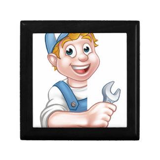 Plumber or Mechanic Holding a Spanner Gift Box