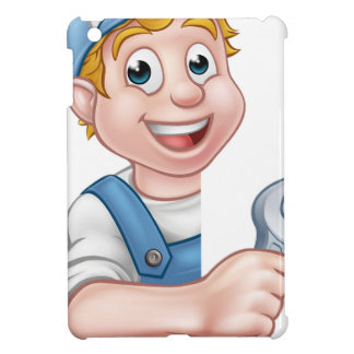 Plumber or Mechanic Holding a Spanner iPad Mini Case
