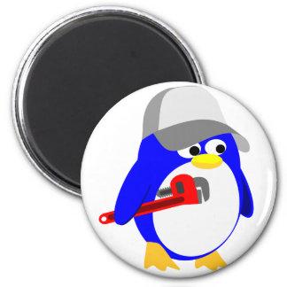 Plumber penguin magnet
