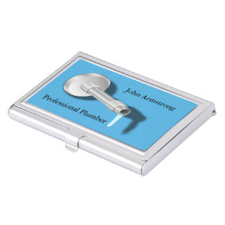 Plumber Pipe Water Dripping Business Card Holder