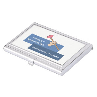 Plumber Plunger Plumbing Case For Business Cards