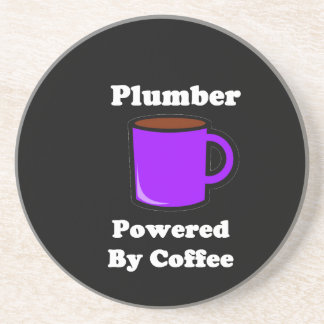 """Plumber"" Powered by Coffee Drink Coasters"