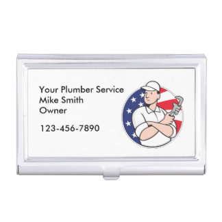 Plumber Service Business Card Cases