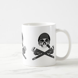 Plumber Skull and Wrenches Coffee Mug
