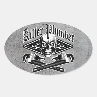 Plumber Skull: Killer Plumber 3.1 Oval Sticker