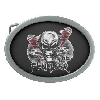 Plumber Skull: The Plumber Oval Belt Buckles