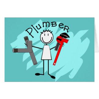 Plumber  stick person design card
