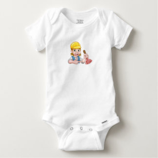 Plumber Woman Holding Plunger Baby Onesie