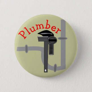 Plumbers gifts 2 inch round button